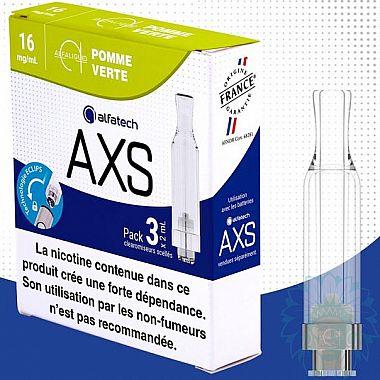 Clearomiseur Alfatech AXS Pomme Verte (Pack de 3)