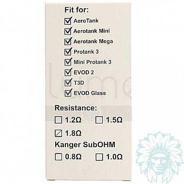Résistances Kanger dual coil (BDC) pour Aérotank, Protank 3, mini protank 3, T3D, Evod 2 (Pack de 5)