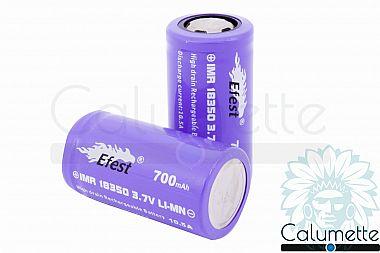 Accu Efest Purple IMR 18350 - 700 mAh - 10,5 A