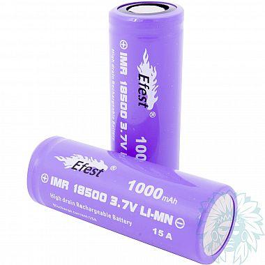 Accu Efest Purple IMR 18500 - 1000 mAh - 15 A