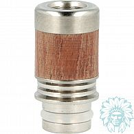 Drip tip 510 Anti-chaleur Bois-Inox