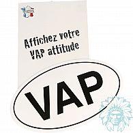 """Sticker voiture militant """"VAP"""""""